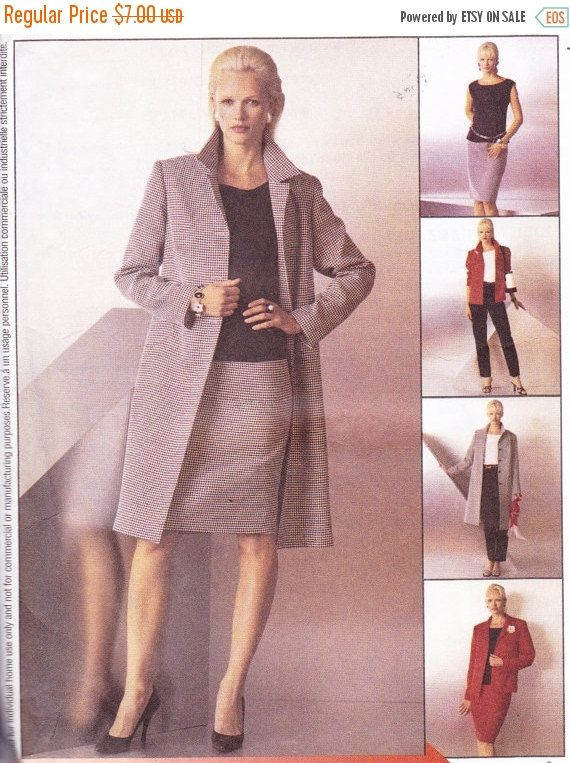 CLEARANCE SALE McCall\'s 3506 Womens Sewing Pattern Unlined Coat ...
