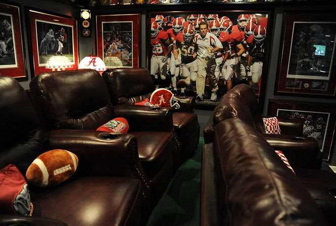 "Man Cave Ideas Football : Alabama themed mancave fan s ""man cave teeters"
