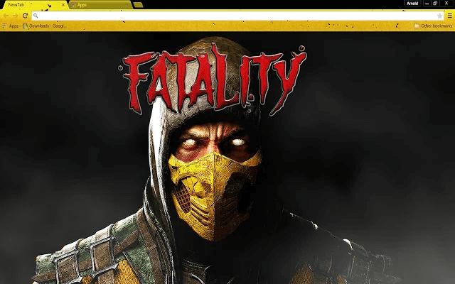 Free Mortal Kombat X Google Chrome Theme Chrome web, Web