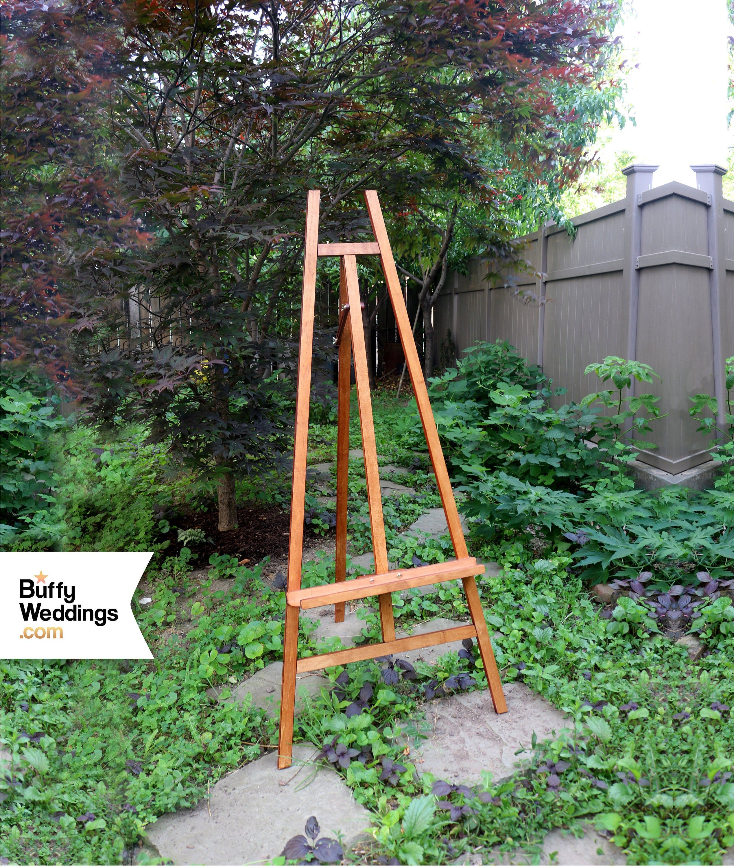 Heavyweight Easel Holds 30lbs Solid Natural Wood 5ft Wedding Etsy Floor Easel Wood Banner Acrylic Mirror