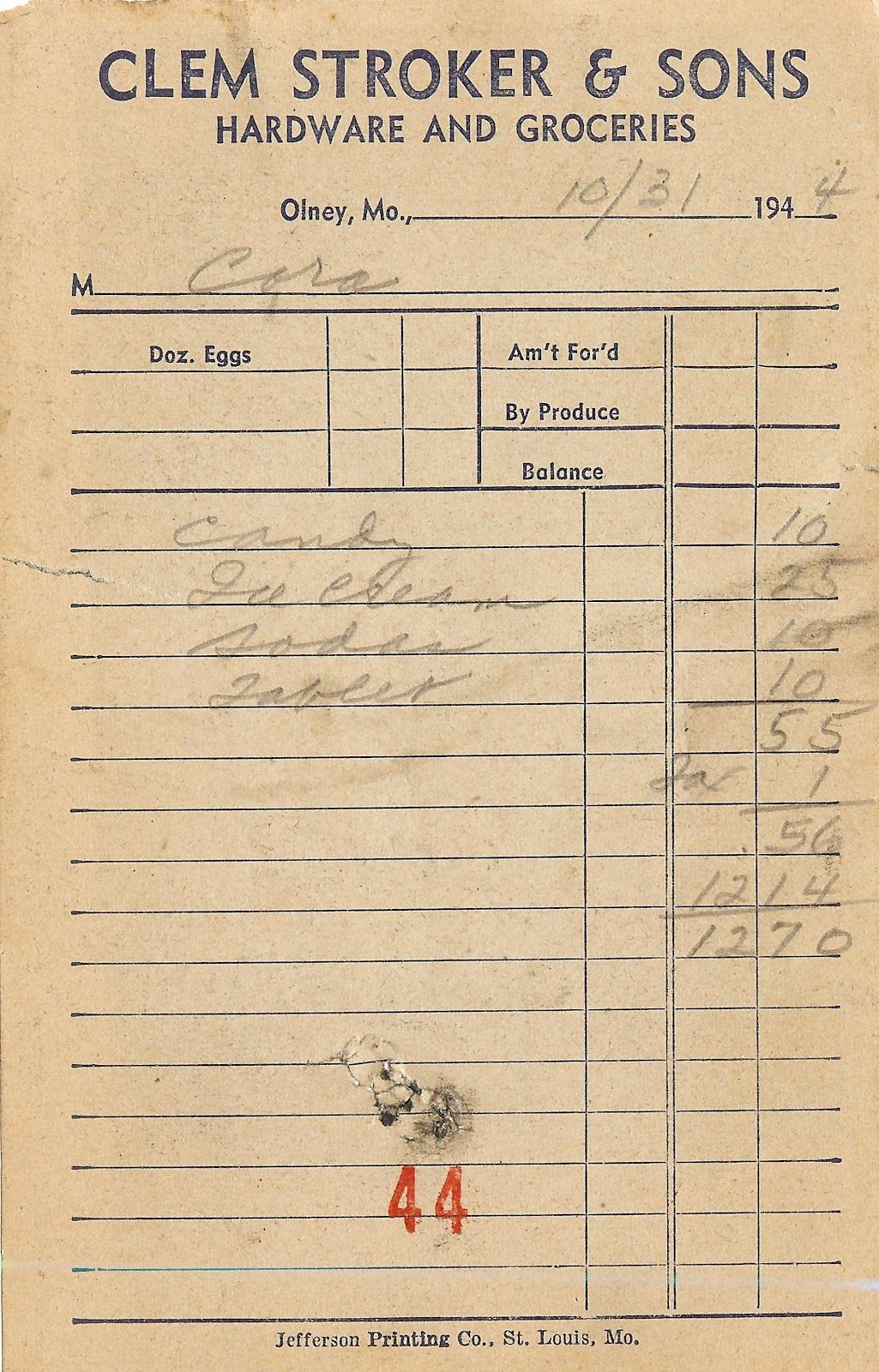 1940 S Grocery Store Receipt Printable Knickoftime