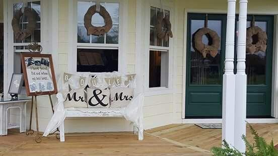 front porch wedding decor
