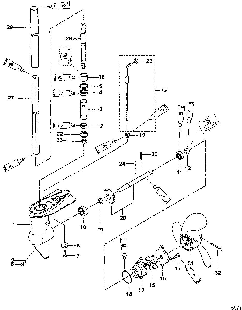 Mercury Mariner 2 2 5 3 3hp 2 Stroke Gear Housing Assembly 2 2 5 Hp Mercury Outboard Mercury Outboard