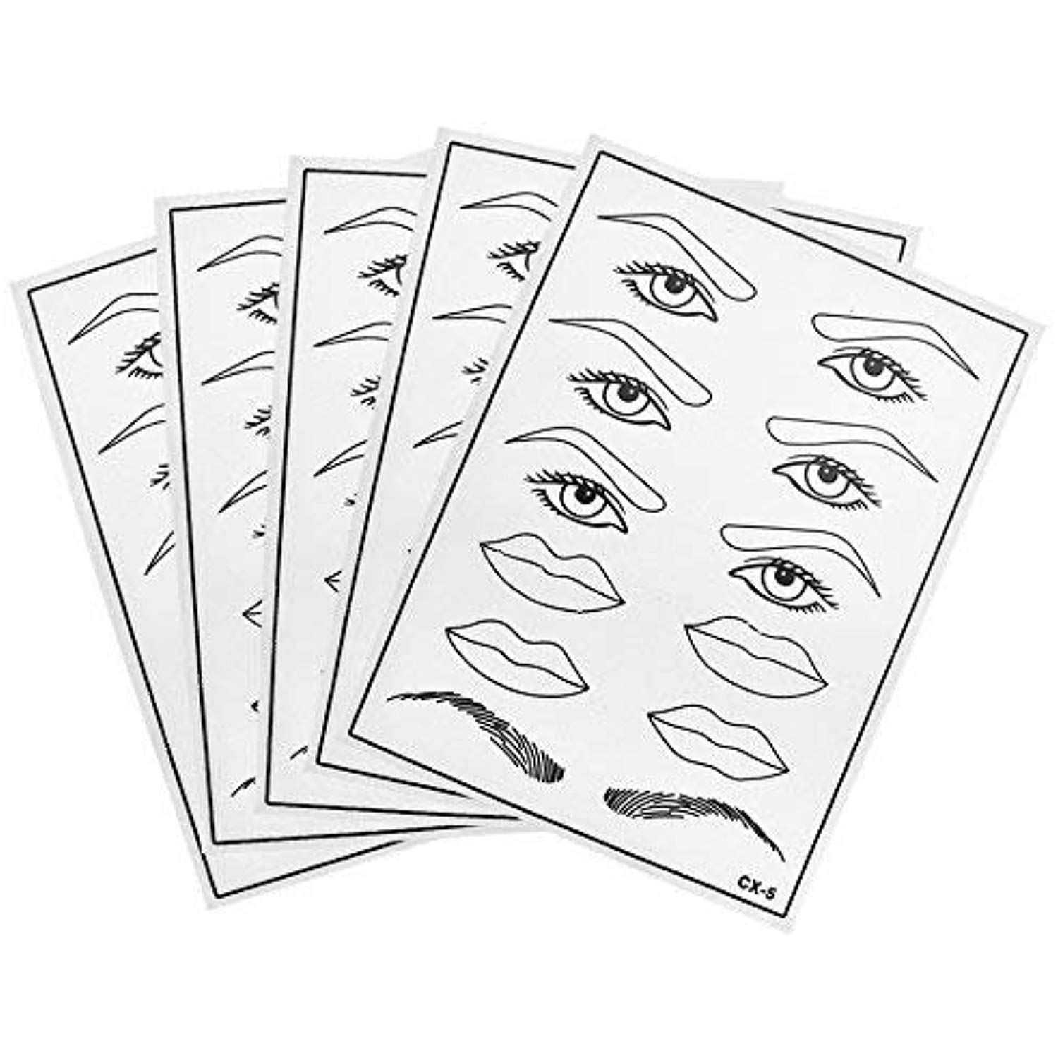 ATOMUS 5 Pcs Silicone Tattoo Practice Skins for Eyebrows