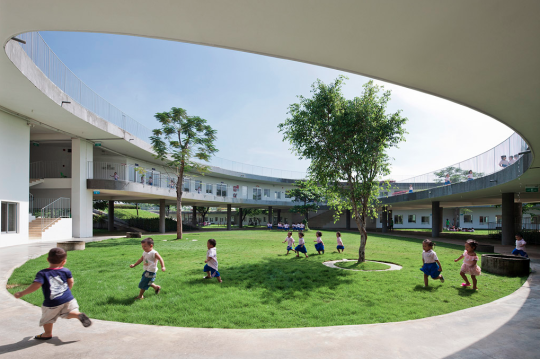 Image 13 Of 24 From Gallery Farming Kindergarten Vo Trong Nghia Architects Photograph By Hiroyuki Oki