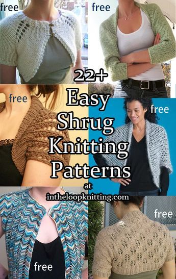 Easy Shrug Knitting Patterns. Most patterns are free ...