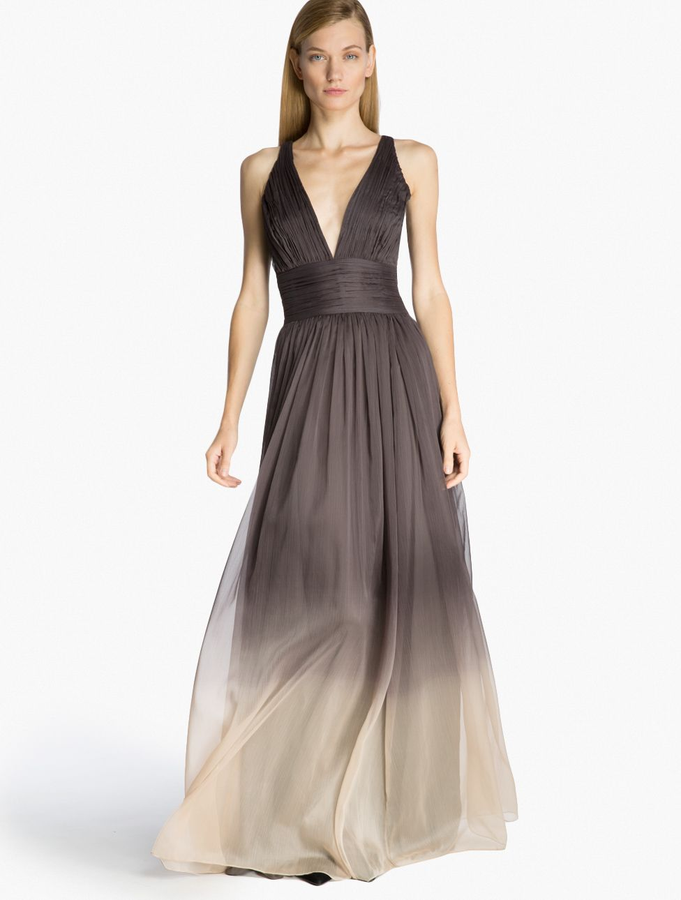 Halston Heritage Ombre Chiffon Gown | Passion for Fashion in 2018 ...