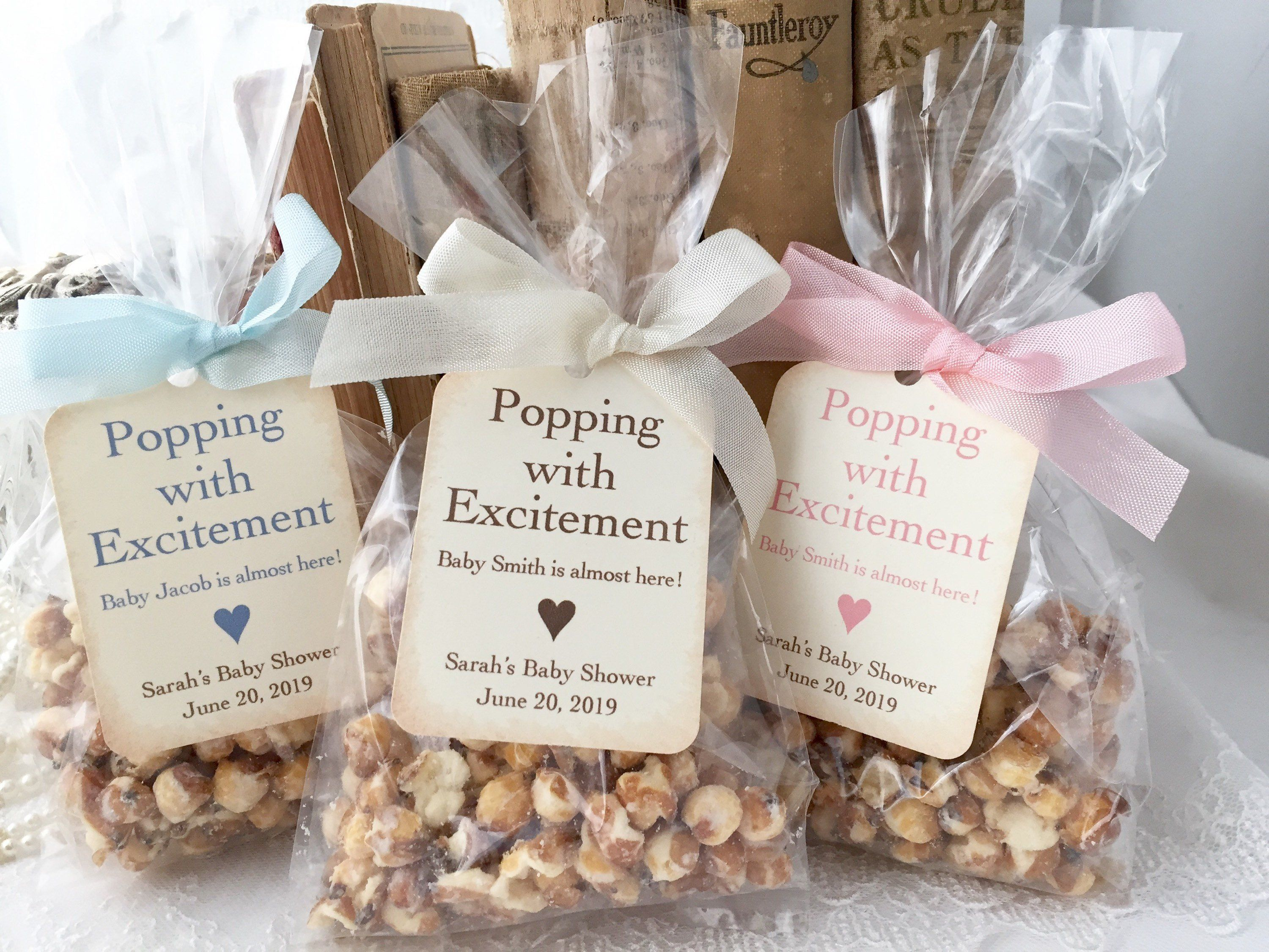 Baby Popcorn Favor Bags Baby Shower Popcorn Favor Bags Popping Favors Bags And Tags Printed Baby Shower Popcorn Popcorn Baby Shower Favors Baby Shower Favors Diy