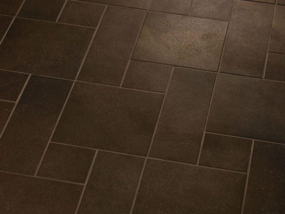 Brown Tile Floor Bathroom