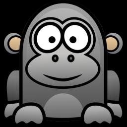 Happy Gorilla Icon Png Clipart Image Iconbug Com Baby Cartoon Baby Gorillas Animal Icon