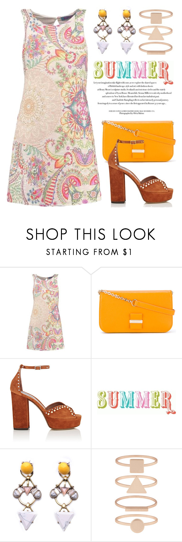 """Fashionable Summer Dresses 3963"" by boxthoughts ❤ liked on Polyvore featuring See by Chloé, Tabitha Simmons and Accessorize"