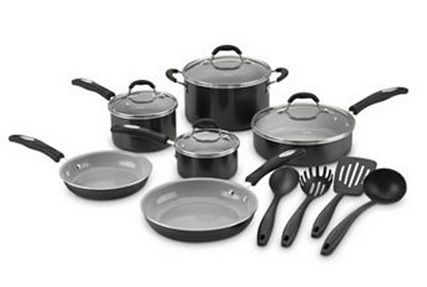 Cuisinart Pro Classic 14 Pc Ceramic Nonstick Cookware Set 84 99 15 Kohl S Cash Add 15 01 Filler Get 30 Kohl S Cash Ceramic Cookware Cookware Set Ceramic Nonstick Cookware