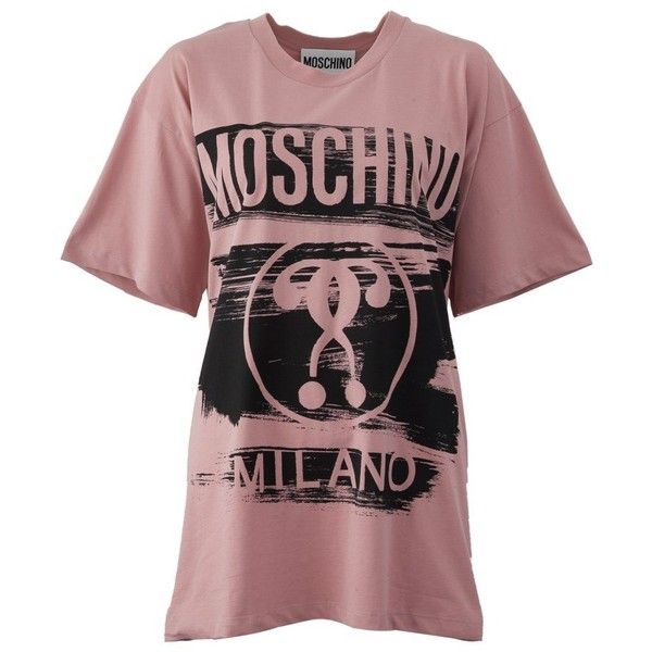 f993de412d6b8c Moschino Printed Short Sleeve T-Shirt ( 200) ❤ liked on Polyvore featuring  tops