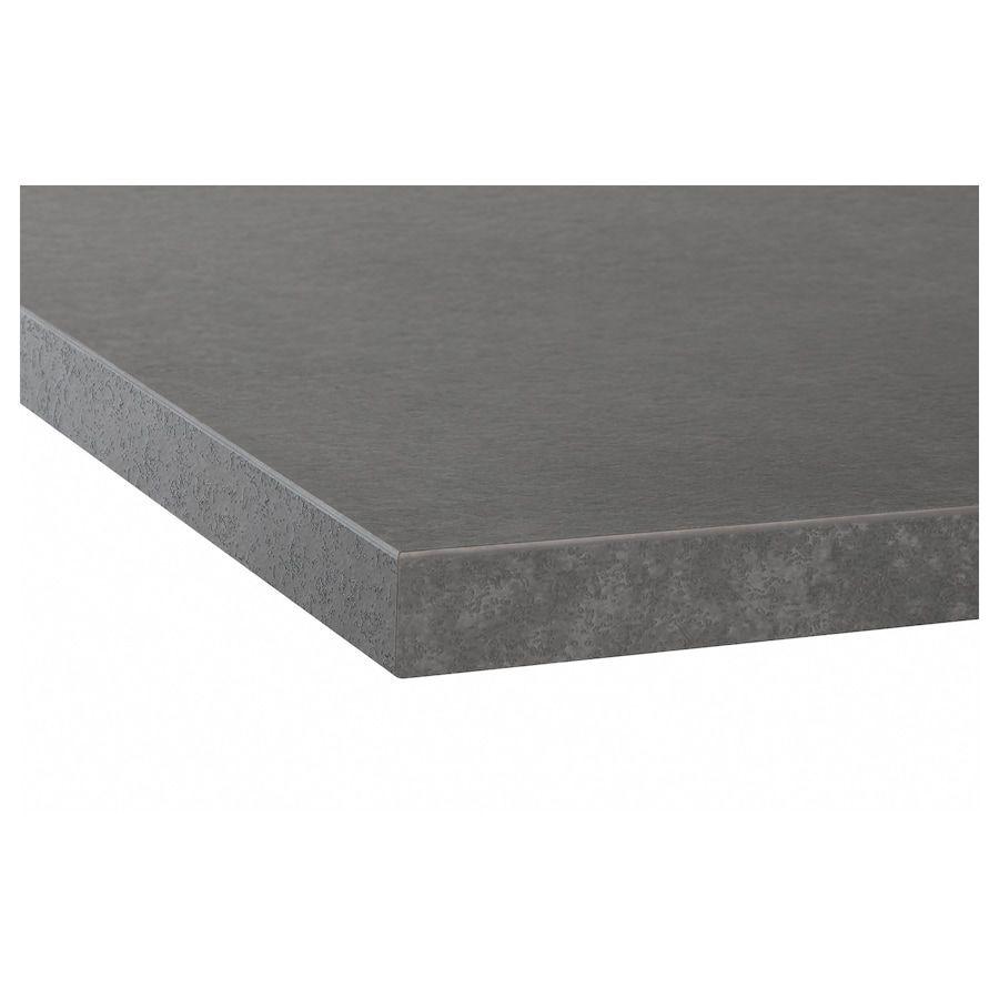 Ekbacken Countertop Concrete Effect Laminate Ikea In 2020 Countertops Recycled Glass Countertops Laminate Countertops