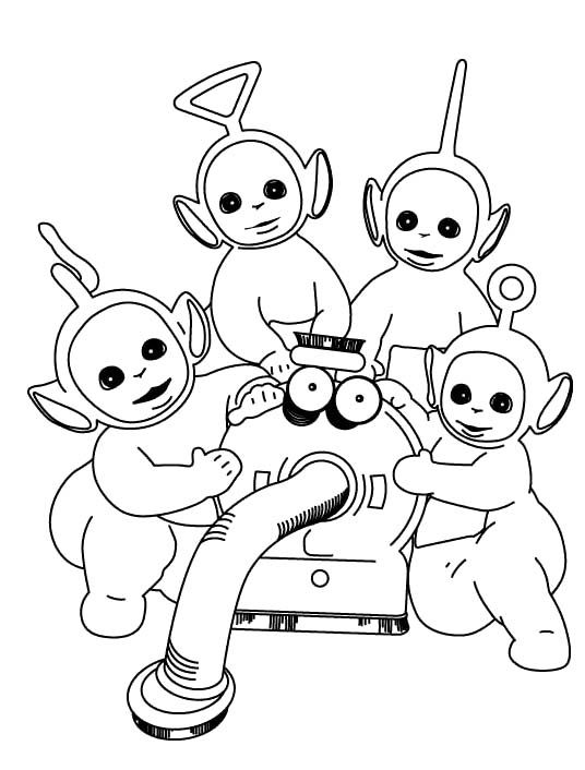 Pictures Teletubbies With Robots Coloring Pages - Teletubbies ...