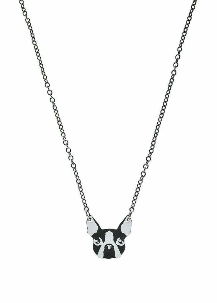 Boston Terrier Necklace http://shop.nylon.com/collections/whats-new/products/boston-terrier-necklace #NYLONshop