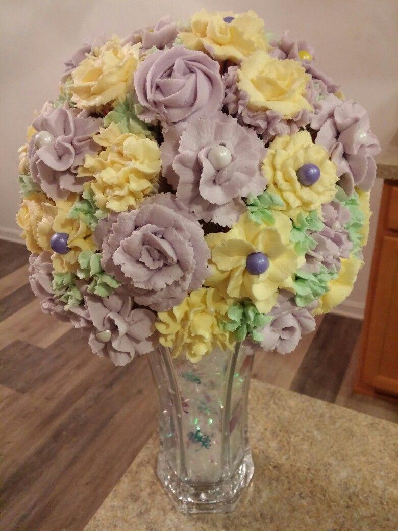 Mixed flower cupcake bouquet my cupcake creations pinterest mixed flower cupcake bouquet izmirmasajfo