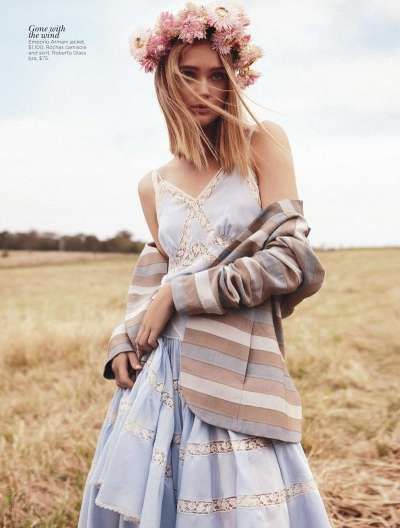 Rosie Tupper Field of Dreams - Shot for the 2012 issue of Vogue Australia, the Rosie Tupper Field of Dreams editorial is earthy and sweet.   Shoulder length cropped hair with hon...