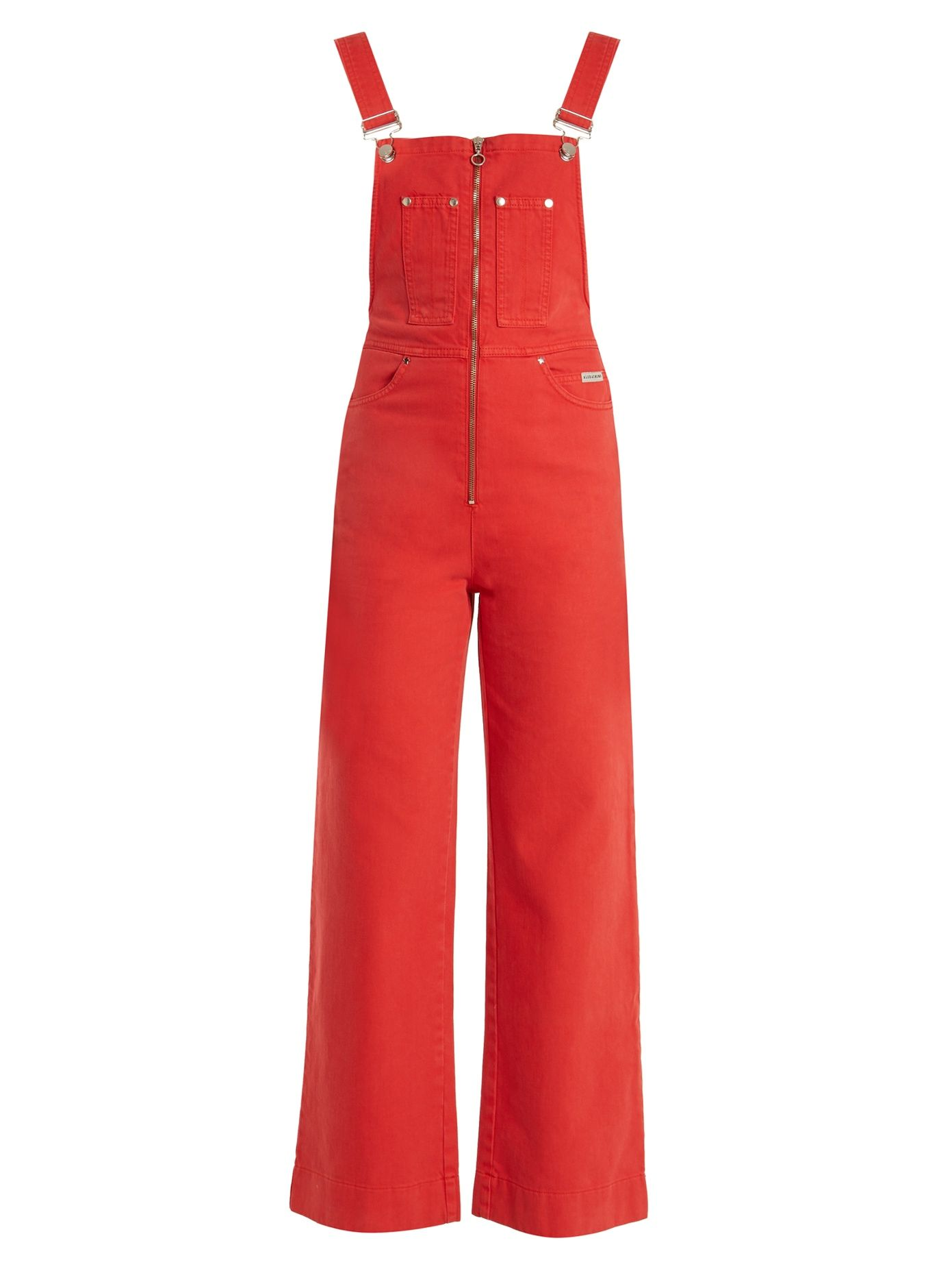 Leg Front Denim Dungarees Wide Here Alexachung Click To At Zip Buy 8x0FnXwq