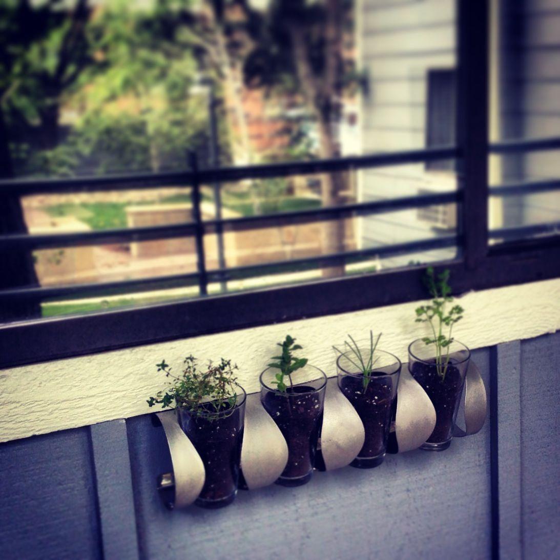 ikea repurposed wine rack planter