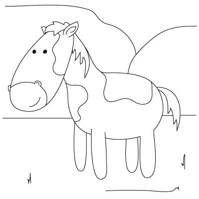 Beau How To Draw A Horse    From How To Draw Farm Animals