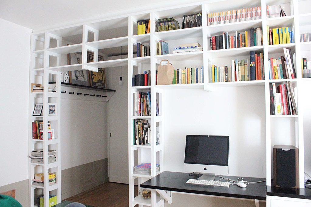 Librerie a ponte a tutta parete e altre soluzioni originali