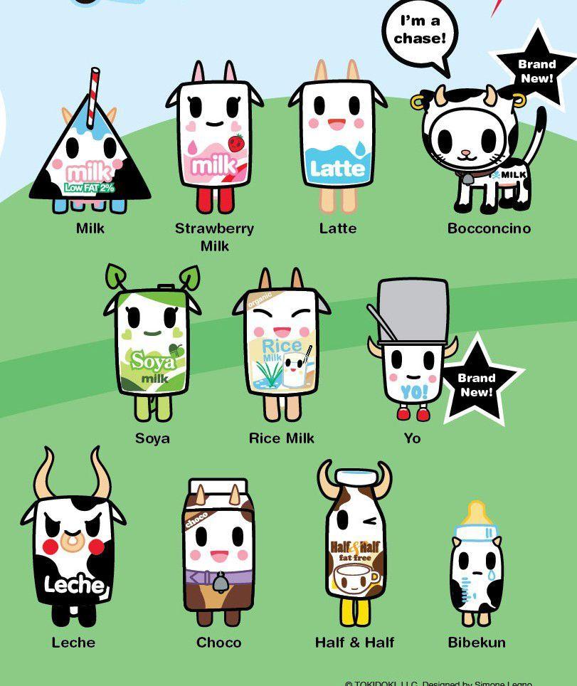 Tokidoki Moofia Blind Box 24 Cute Art Kawaii Tattoo