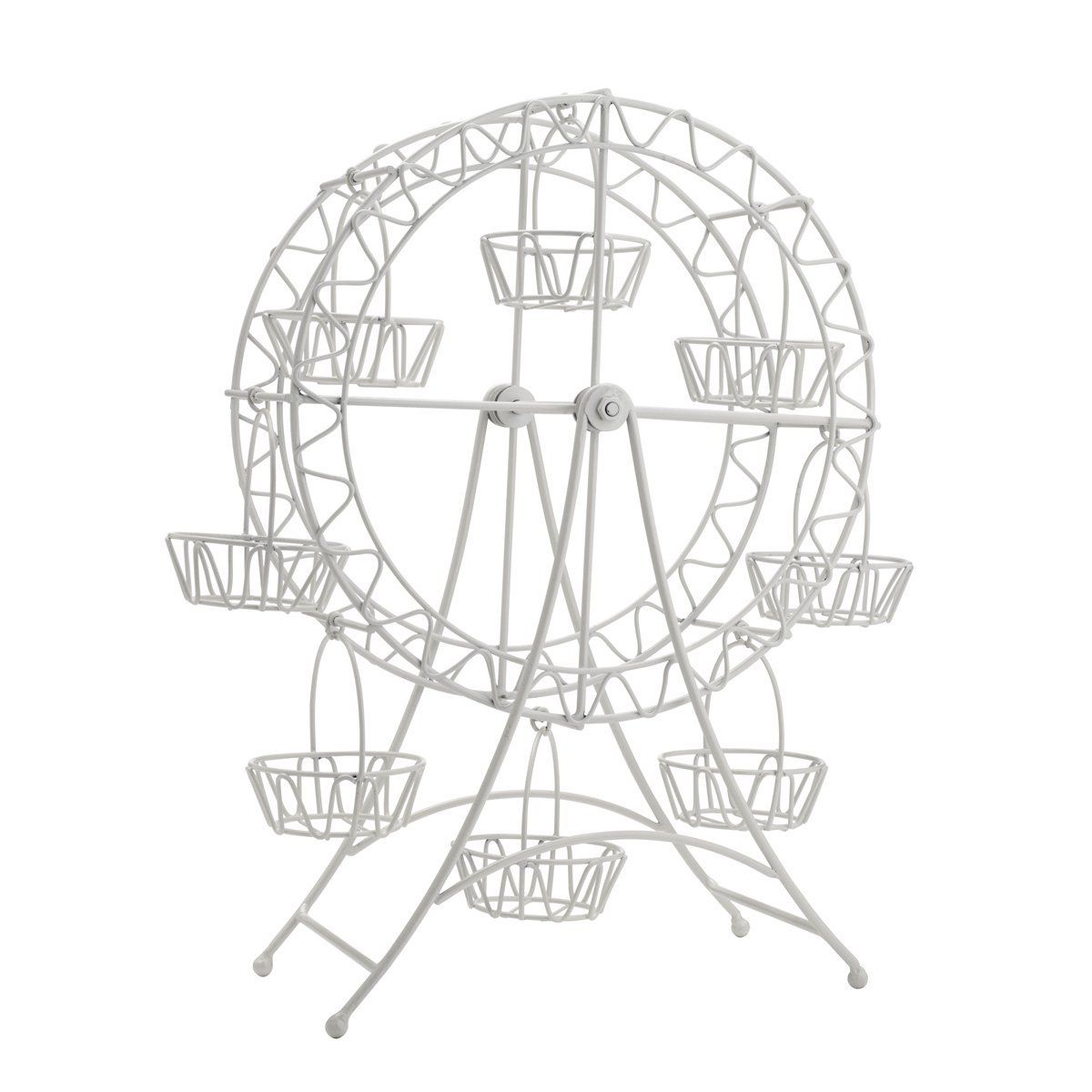 White Metal Ferris Wheel Cupcake Holder Quickly View