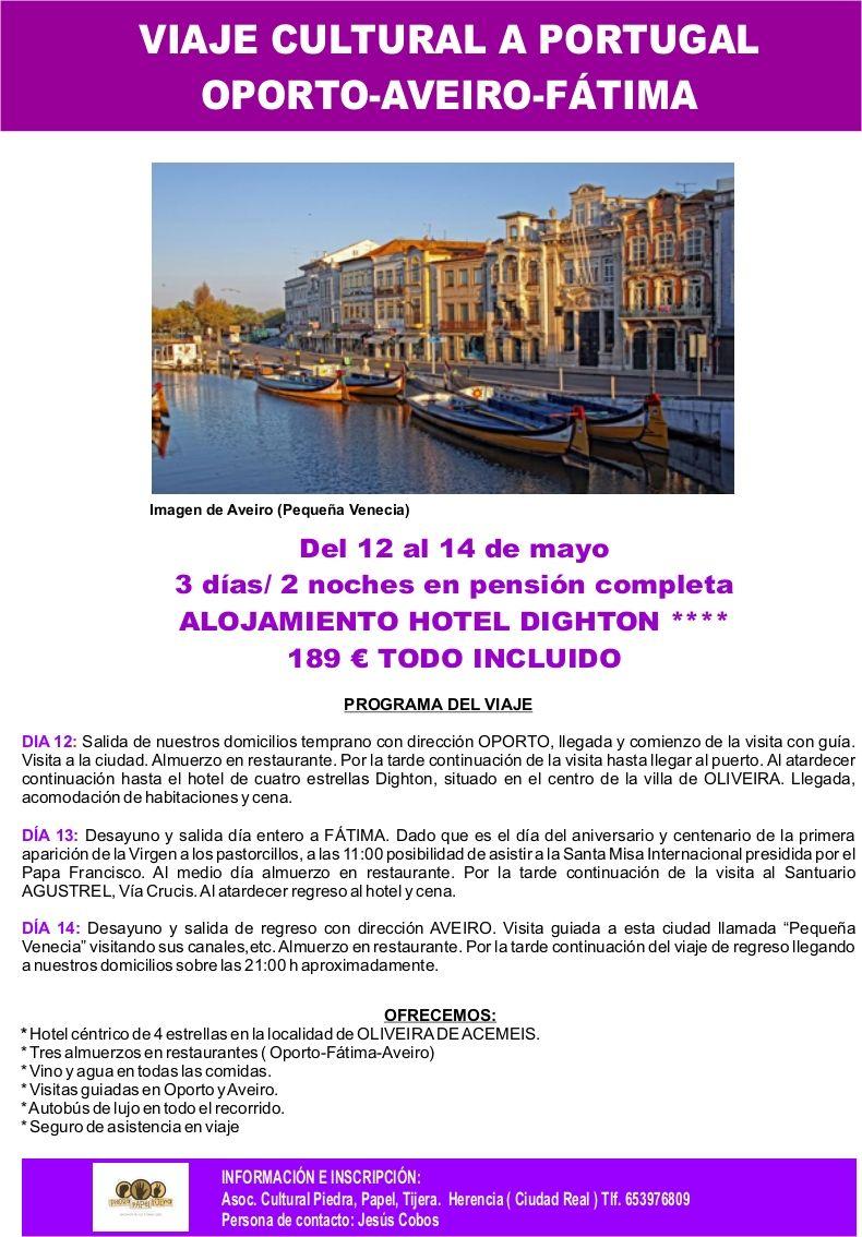 Viaje cultural a Oporto, Aveiro y Fátima con la Asociación Piedra, Papel, Tijera - https://herencia.net/2017-03-11-viaje-cultural-oporto-aveiro-fatima-la-asociacion-piedra-papel-tijera/?utm_source=PN&utm_medium=herencianet+pinterest&utm_campaign=SNAP%2BViaje+cultural+a+Oporto%2C+Aveiro+y+F%C3%A1tima+con+la+Asociaci%C3%B3n+Piedra%2C+Papel%2C+Tijera