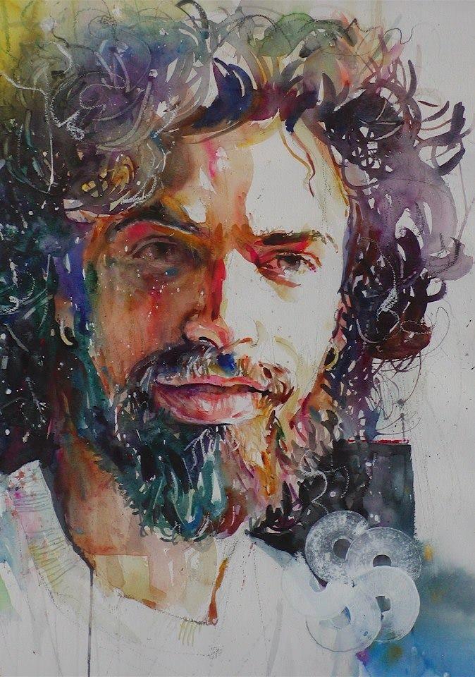 Watercolor Portrait Portrait Peinture Art Visage Art Dessin