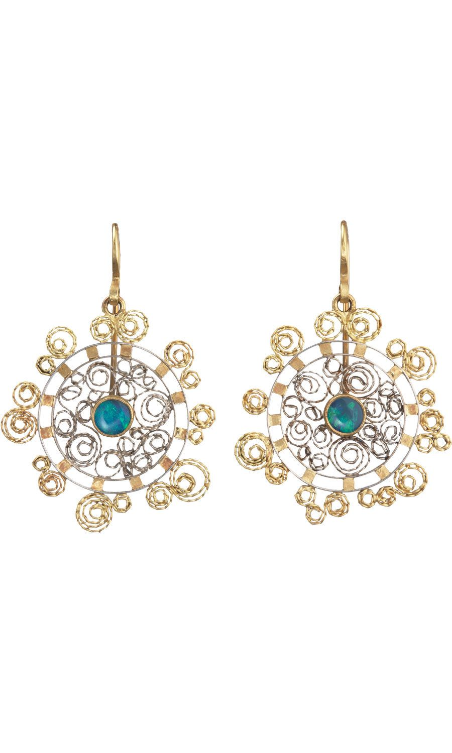 702a1f601 Opal small round filigree earrings | Accesorize | Pinterest ...