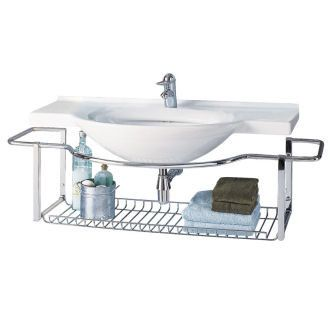 Porcher 26308 00 001 White Riviera 41 1 2 Wall Mounted Fire Clay Bathroom Sink With 8centers And Towel Rack