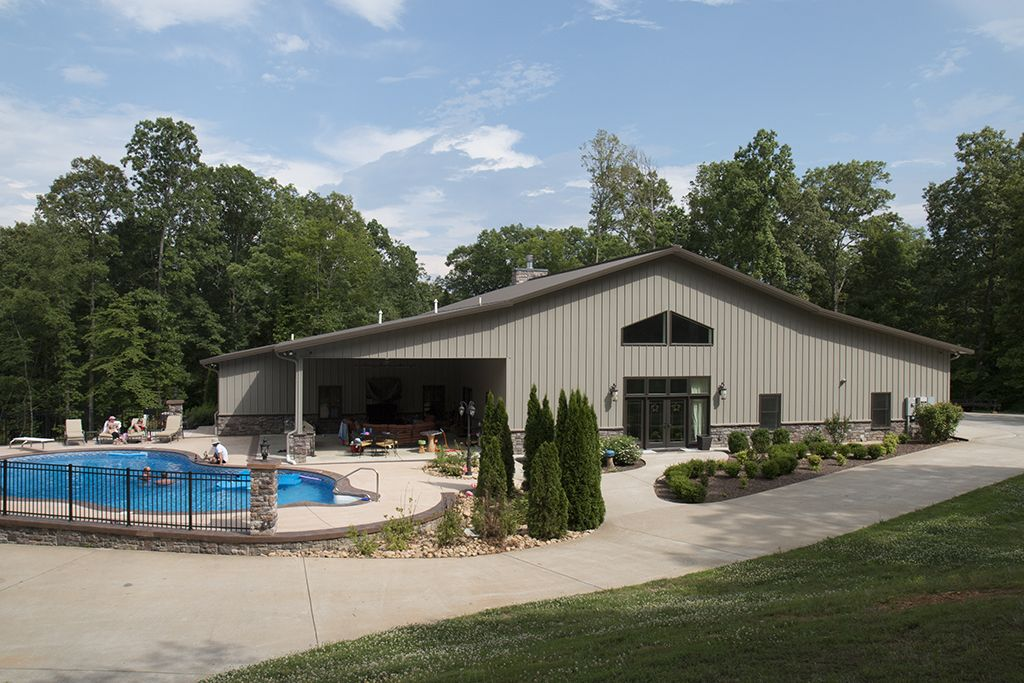Morton buildings custom home in nashville tennessee for Steel pole house designs