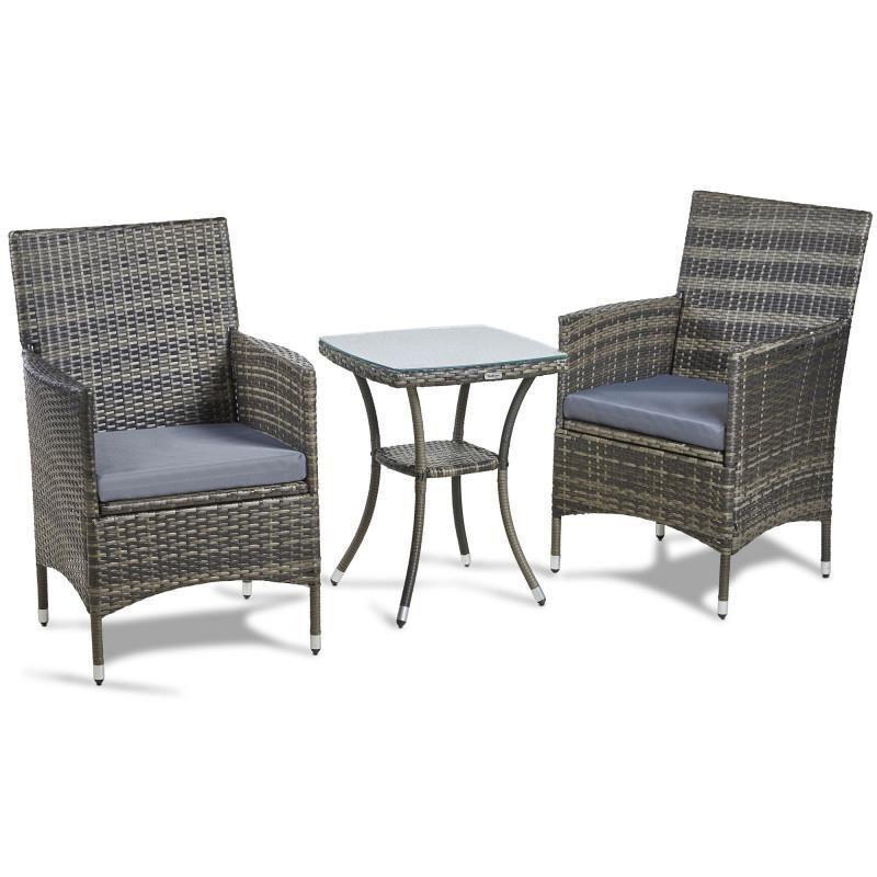 rattan bistro set table and chairs patio garden furniture garden rh pinterest com