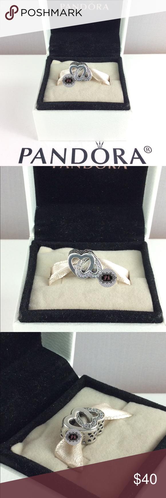 72aa645d1 New Pandora Entwined Love Charm 791880CZ 100% Authentic Pandora Entwined  Love Charm Pandora Charms.