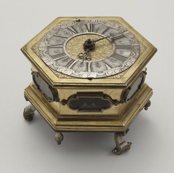 *1650 German (Silesia) Table clock at the Los Angeles County Museum of Art, Los Angeles