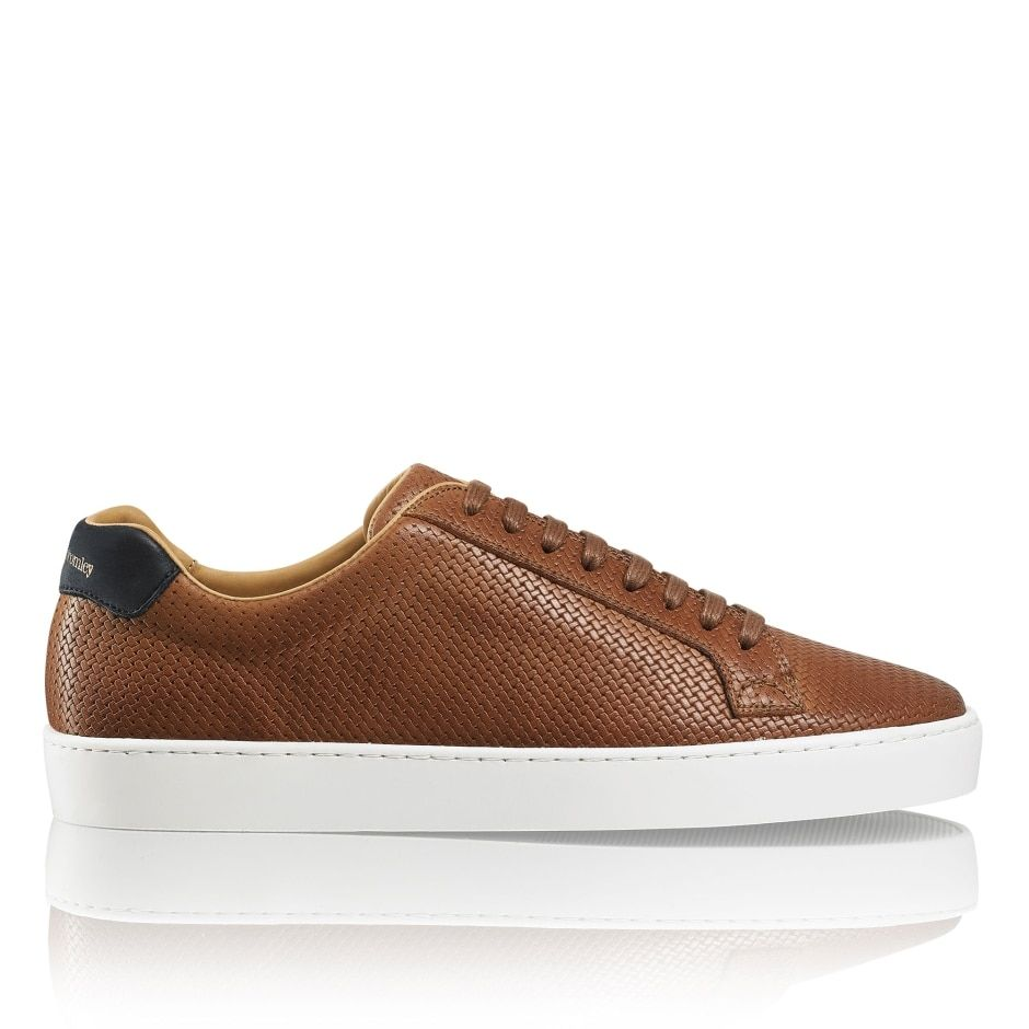 designer leather trainers