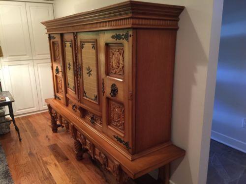 La Credenza Coop : Antiques #gifts large antique vintage carved cabinet credenza