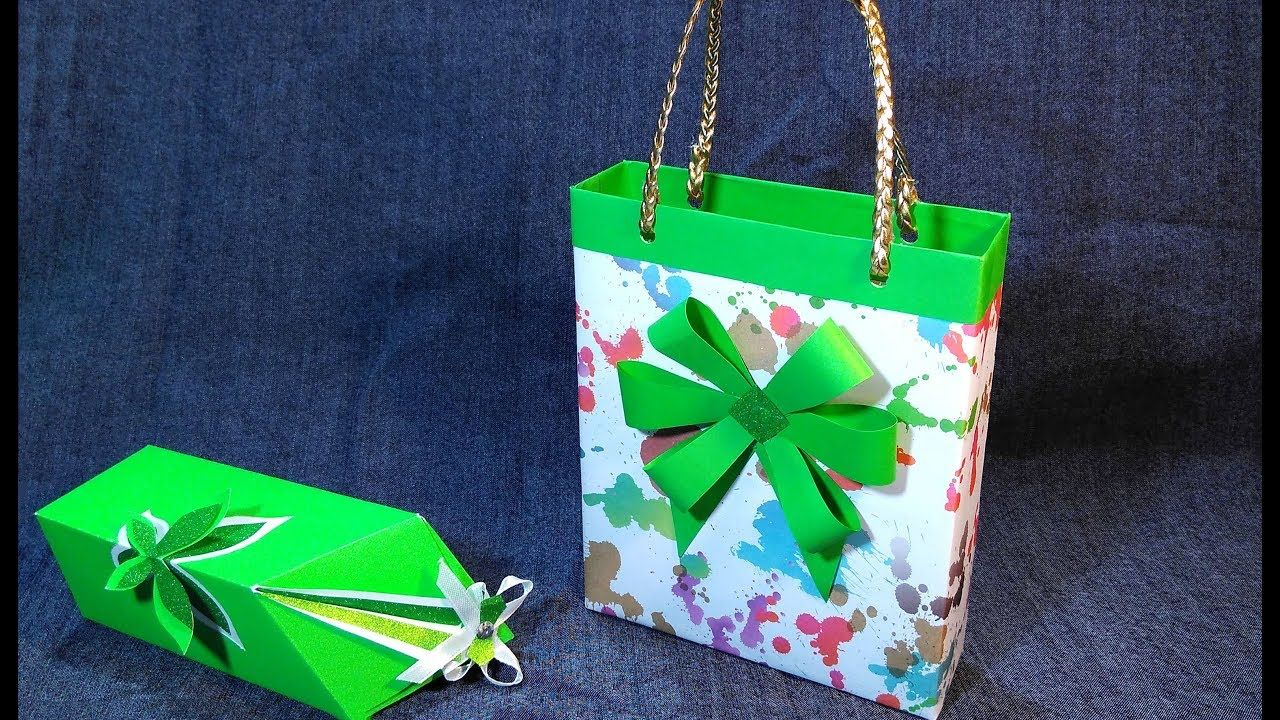 Diy gift bag out of cereal box gift wrapping ideas