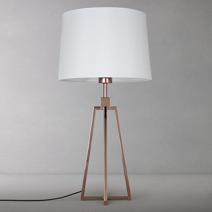 Buy john lewis lockhart tripod table lamp dark copper online at johnlewis com