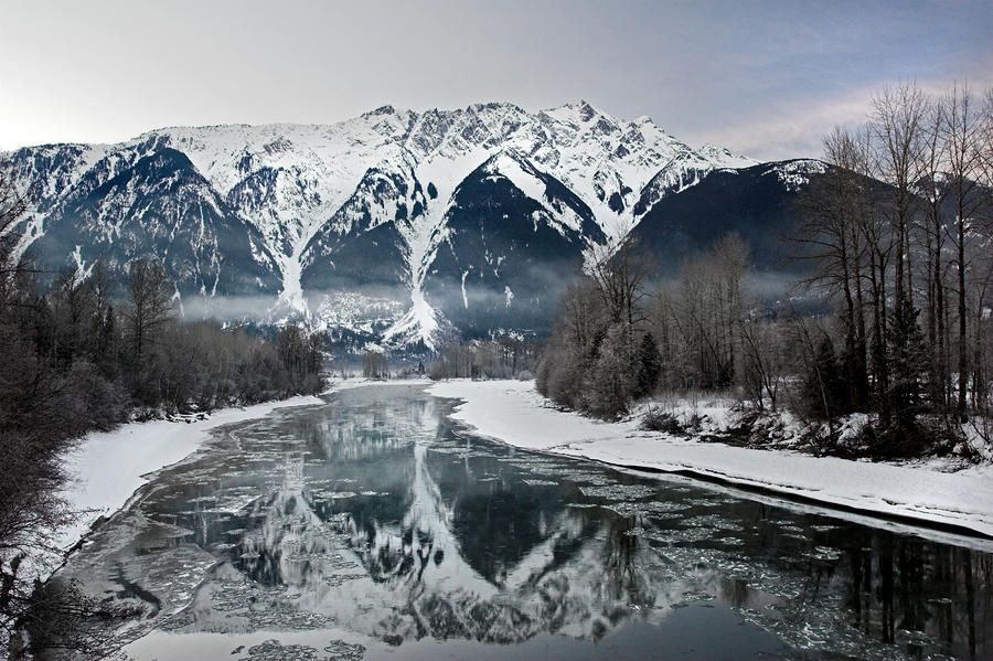 Mt Currie Reflected In Lillooet River Pemberton By Pierre Leclerc Photography World In Motion Scenery Canada
