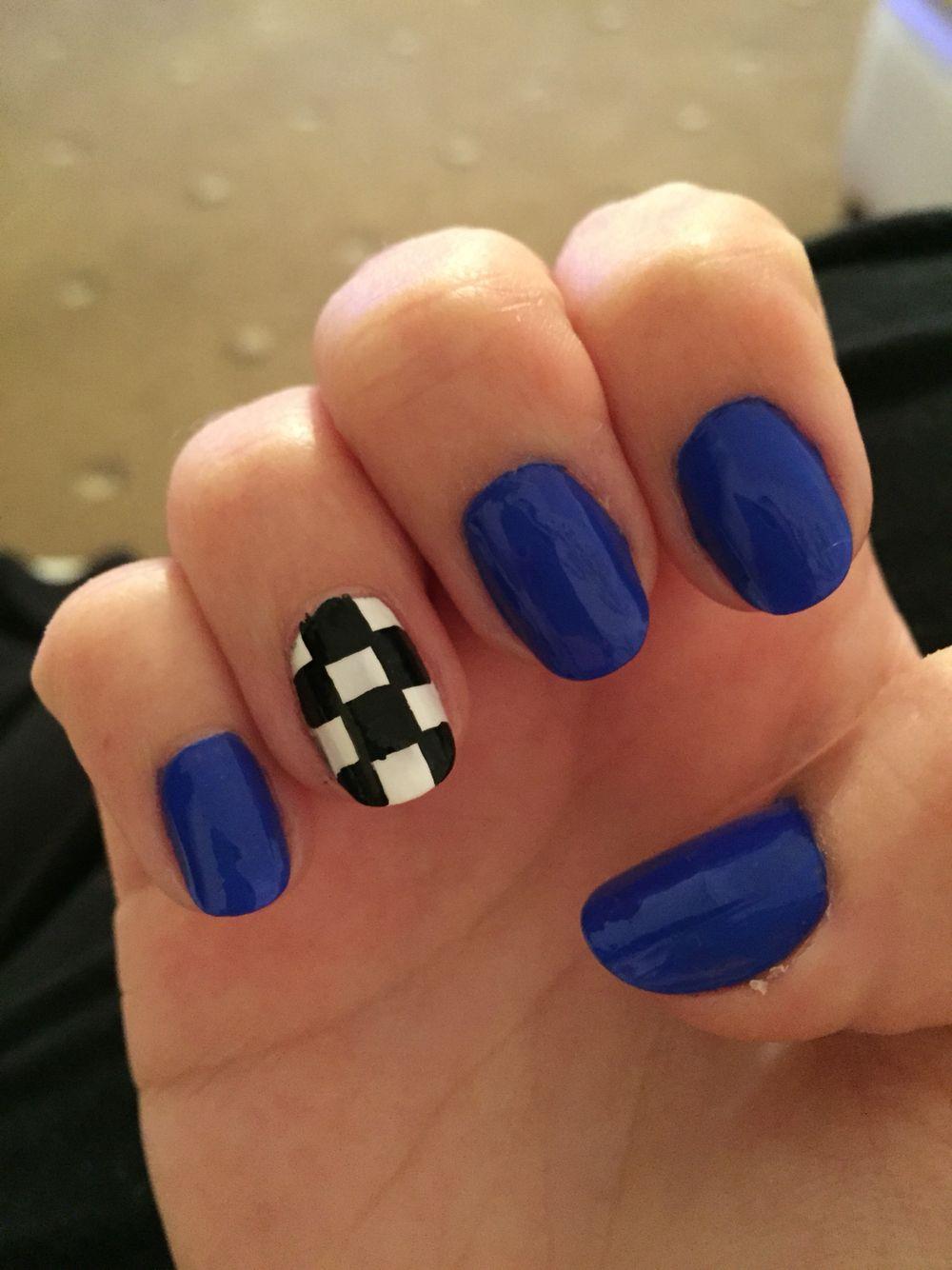 Checkered Flag Race Day Nails Racing Nails Flag Nails Checkered Nails
