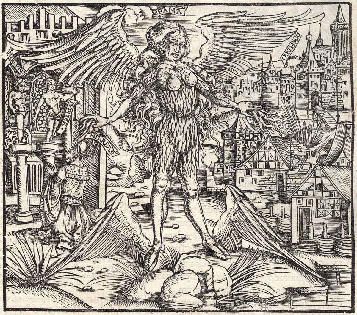 "Late Master of the Grüninger 1502""Winged Fama"