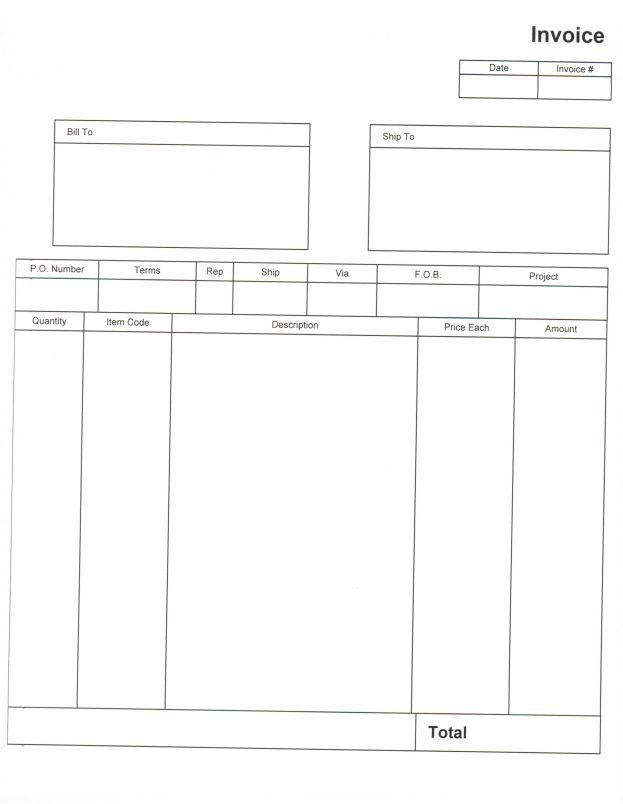 Blank Invoices To Print Residers Info 701942 Invoice Paper 81 More An Image Part Of Checklist Templa Invoice Template Printable Invoice Invoice Template Word
