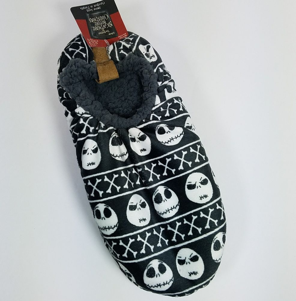 Nightmare Before Christmas Slipper Socks Jack Mens Lrg XL Shoe Sz 10 ...