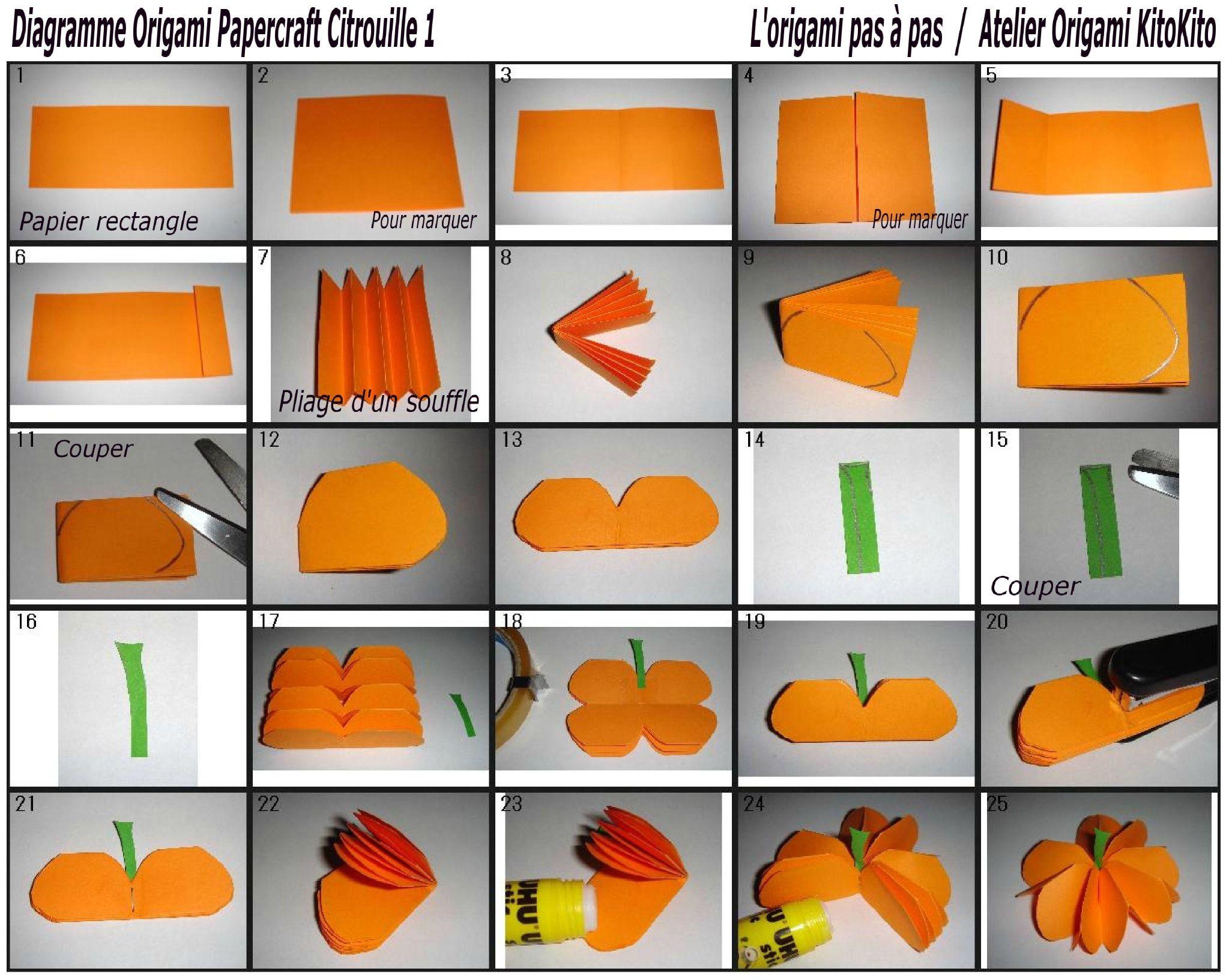 Origami Papercraft Citrouille 1 pour Papercraft