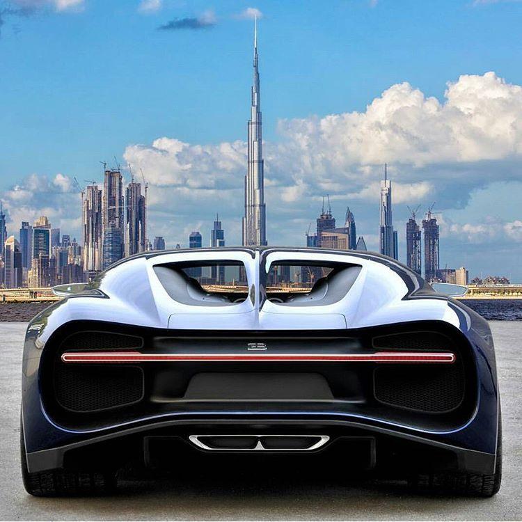 Bugatti Chiron With The Burj Khalifa In The Background Bugatti