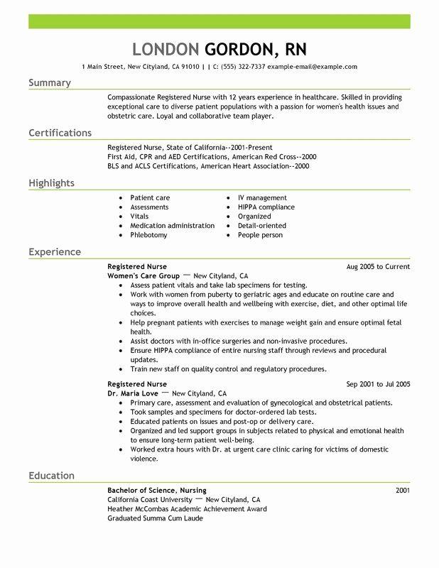 25 professional nursing resume template in 2020