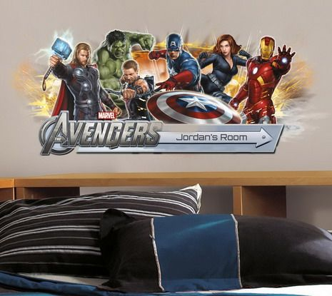 Boys Bedroom Walls Designs with Marvel Avengers Wall Stickers Best