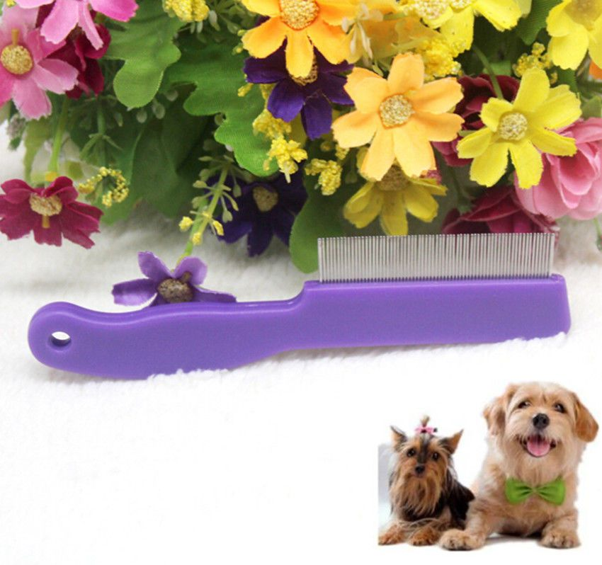 Awesome Pet Dog Cat Hair Fur Flea Trimmer Cleaning Comb Grooming Tool Steel Small Fauk Pet Dogs Dog Cat Dog Grooming Supplies